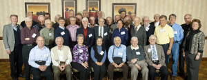 Group photo of College of Natural Sciences Emeritus Faculty at the Emeritus Breakfast at the Hilton Hotel in Fort Collins on April 21, 2011