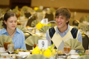 Photo of College of Natural Students attending the scholarship luncheon