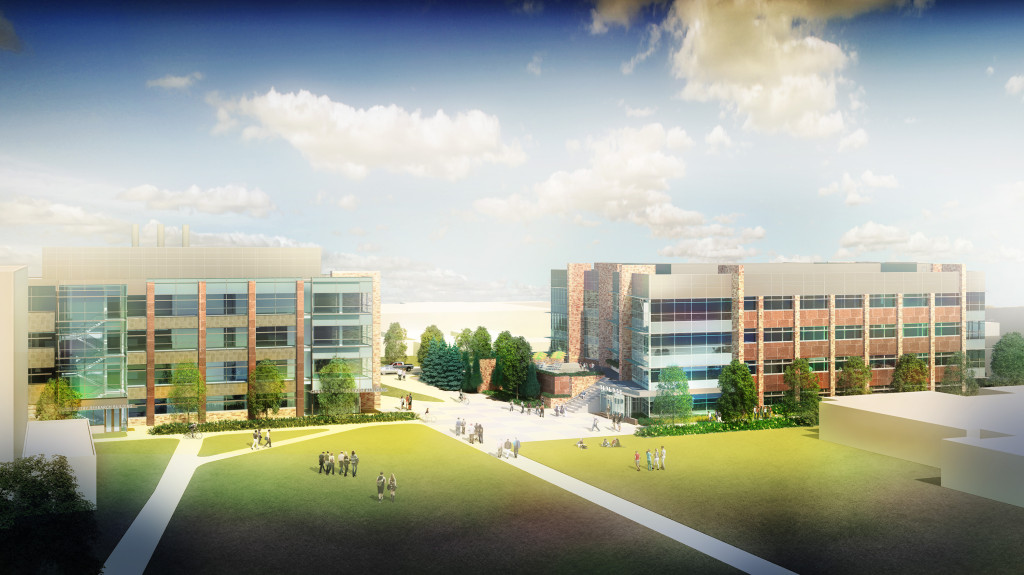 Rendering of the new Biology and Chemistry Research buildings