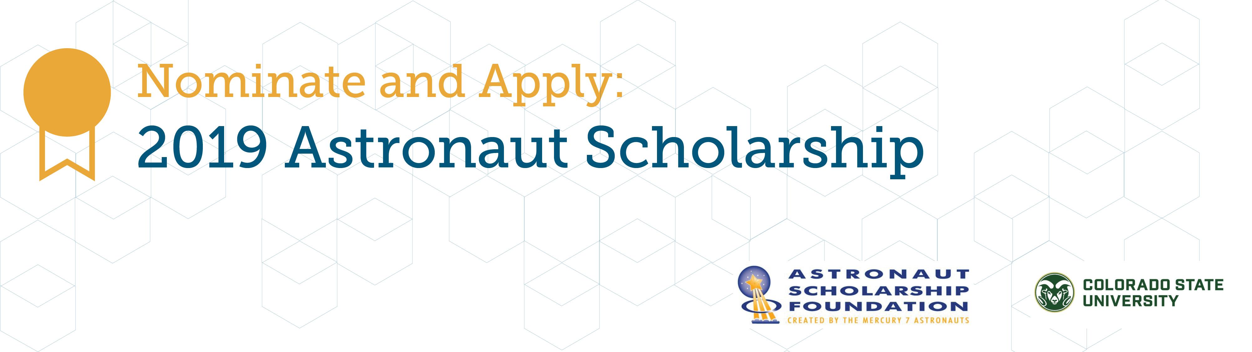 Astronaut Scholarship Banner