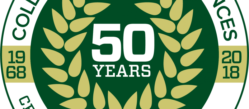 college of natural sciences csu 50th anniversary logo