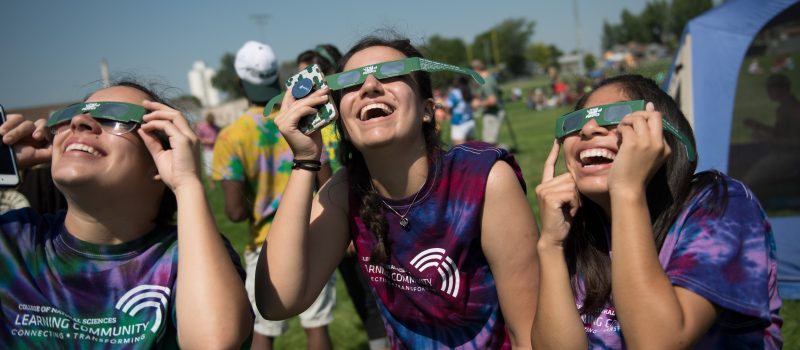 csu college of natural sciences students at eclipse